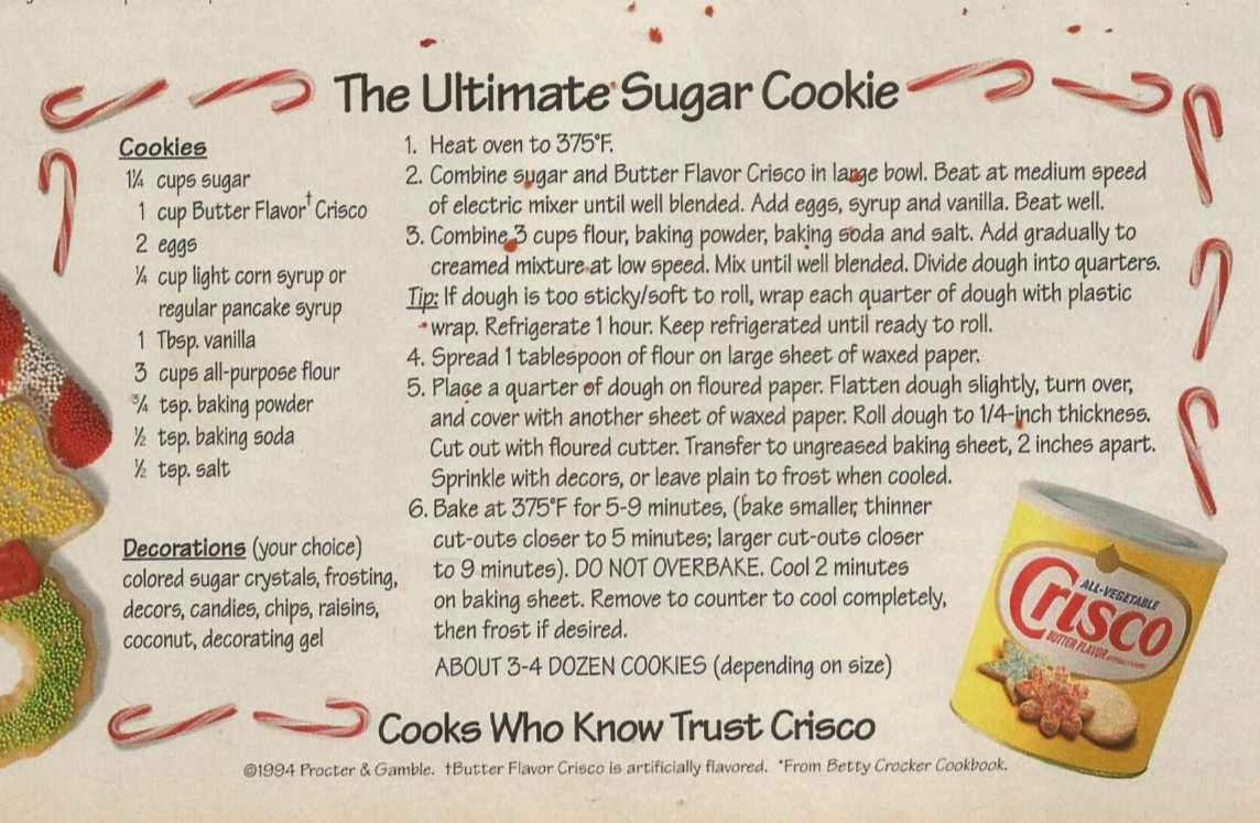 Aunt B Simply Living  Crisco Sugar Cookies