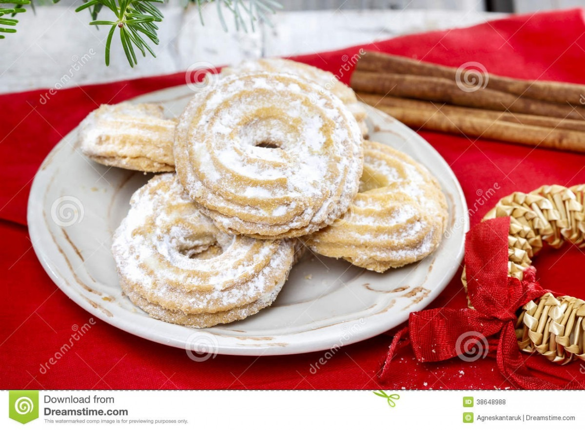 Delightful Traditional Christmas Cookies Stock Photo