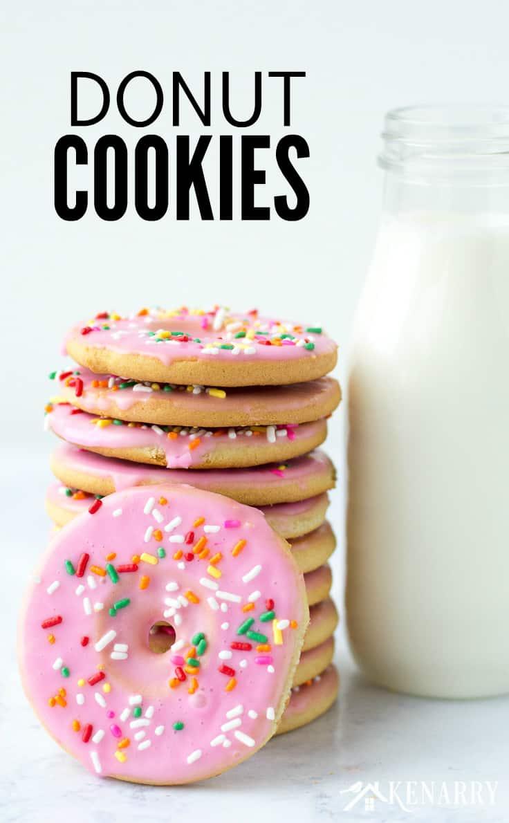Donut Cookies  Easy Dessert Idea Using Sugar Cookie Dough
