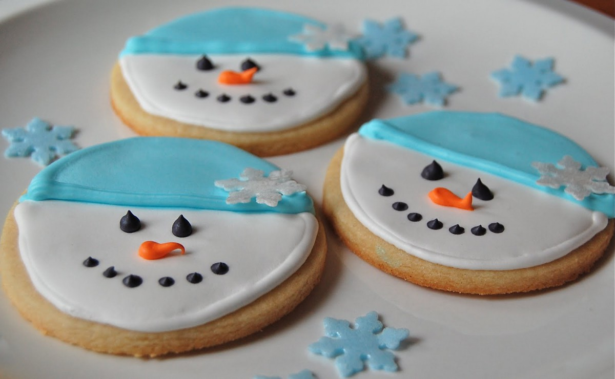 Chef Mommy  Snowman Sugar Cookies