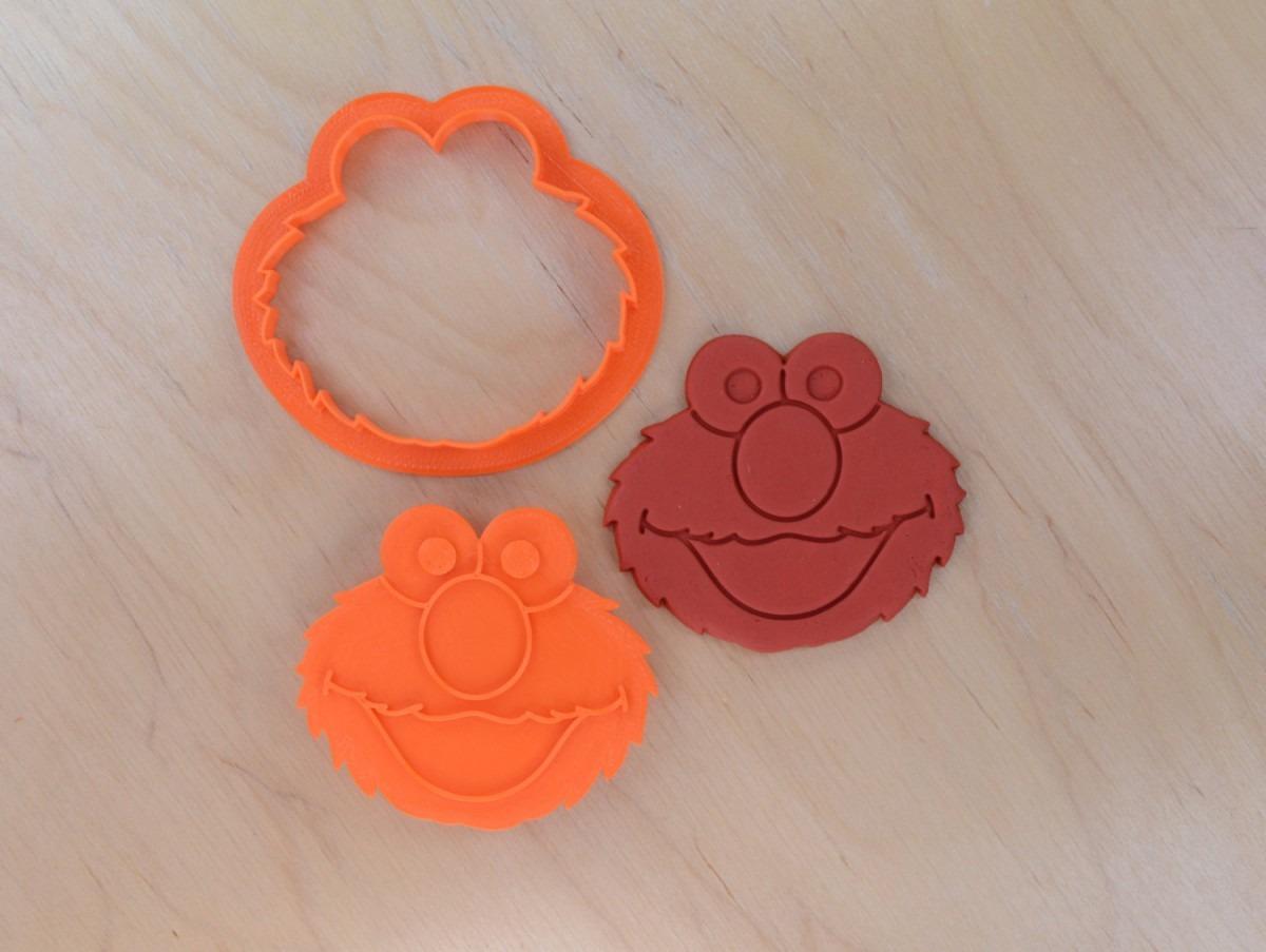 Elmo Cookie Cutter And Stamp Set ⋆ Cookiecutters4u