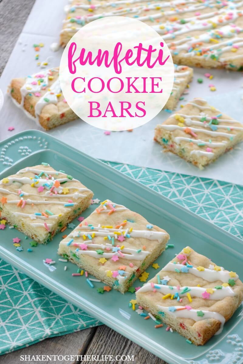 Funfetti Cookie Bars From A Cake Mix