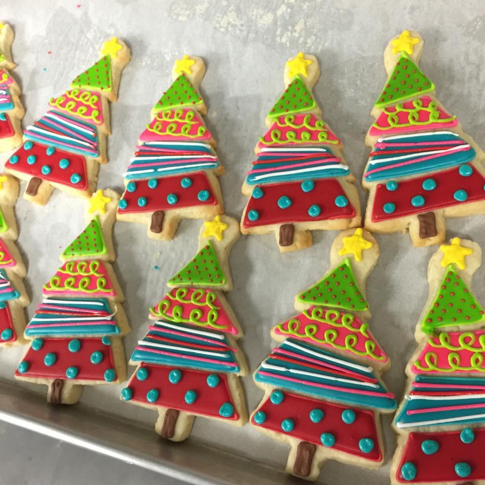 Mod Christmas Tree Cookies