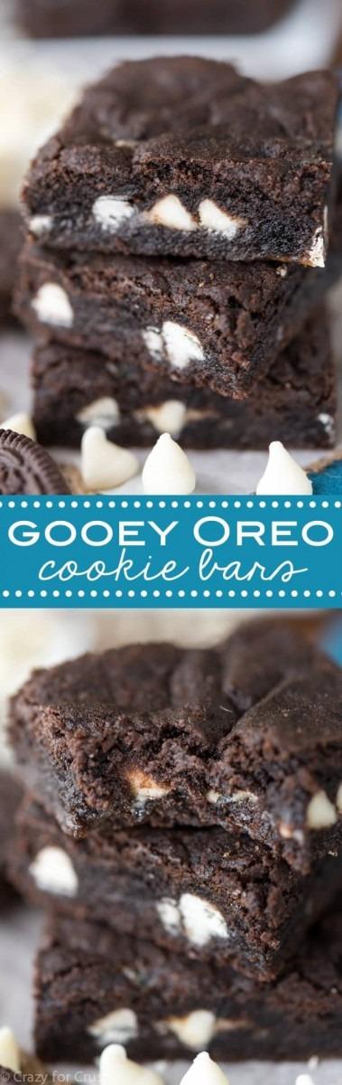 Gooey Oreo Cookie Bars