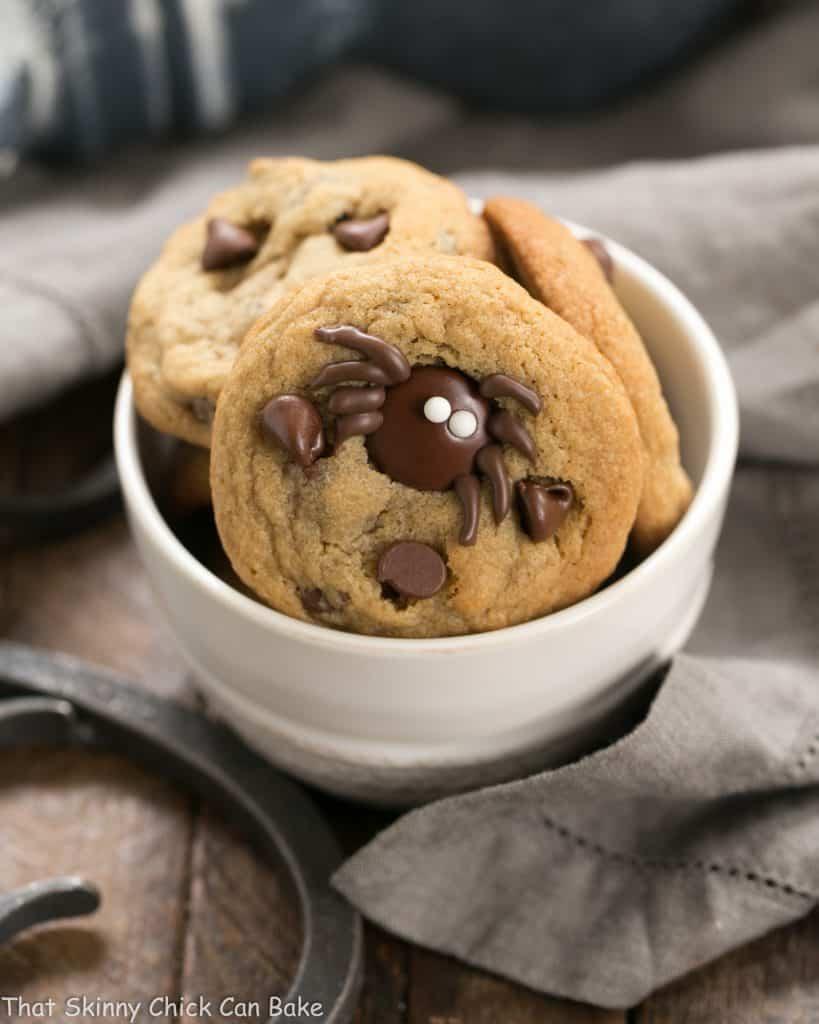 Halloween Spider Chocolate Chip Cookies