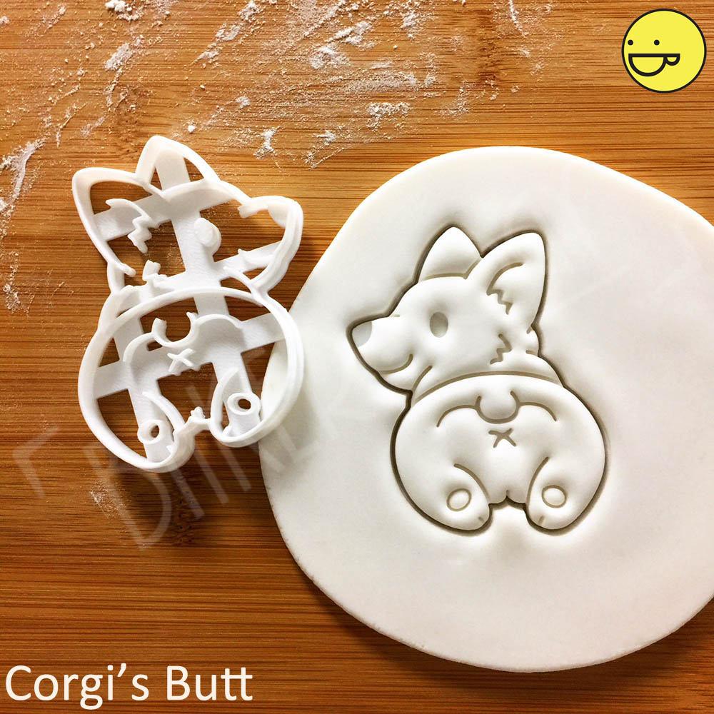 Corgi Butt Cookie Cutter Cute Fluffy Pembroke Welsh Dog