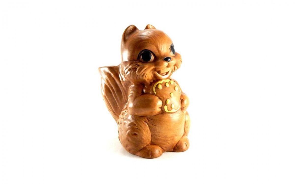 Vintage Ceramic Squirrel Cookie Jar By Twin Winton California