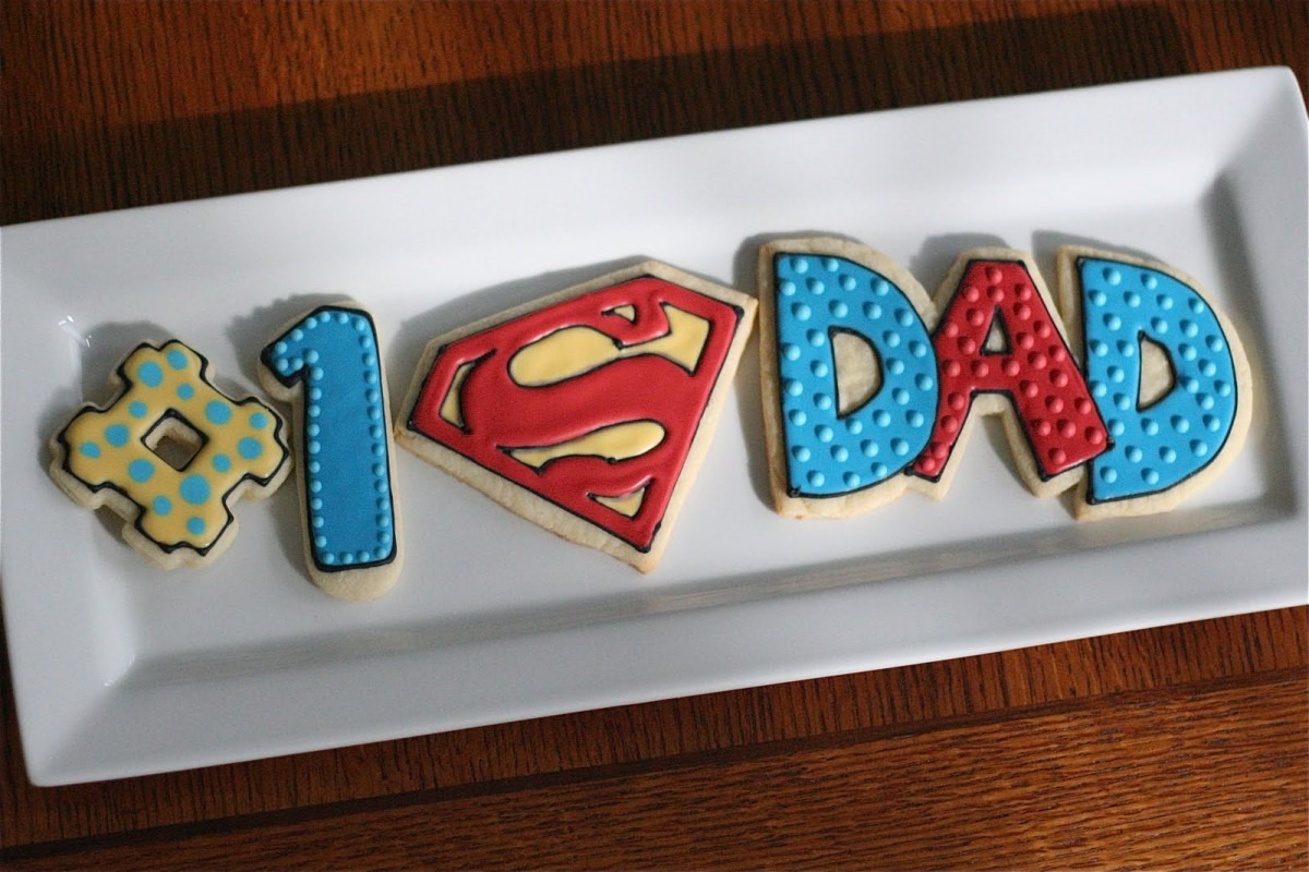 Cookies With Character  Super Dad!