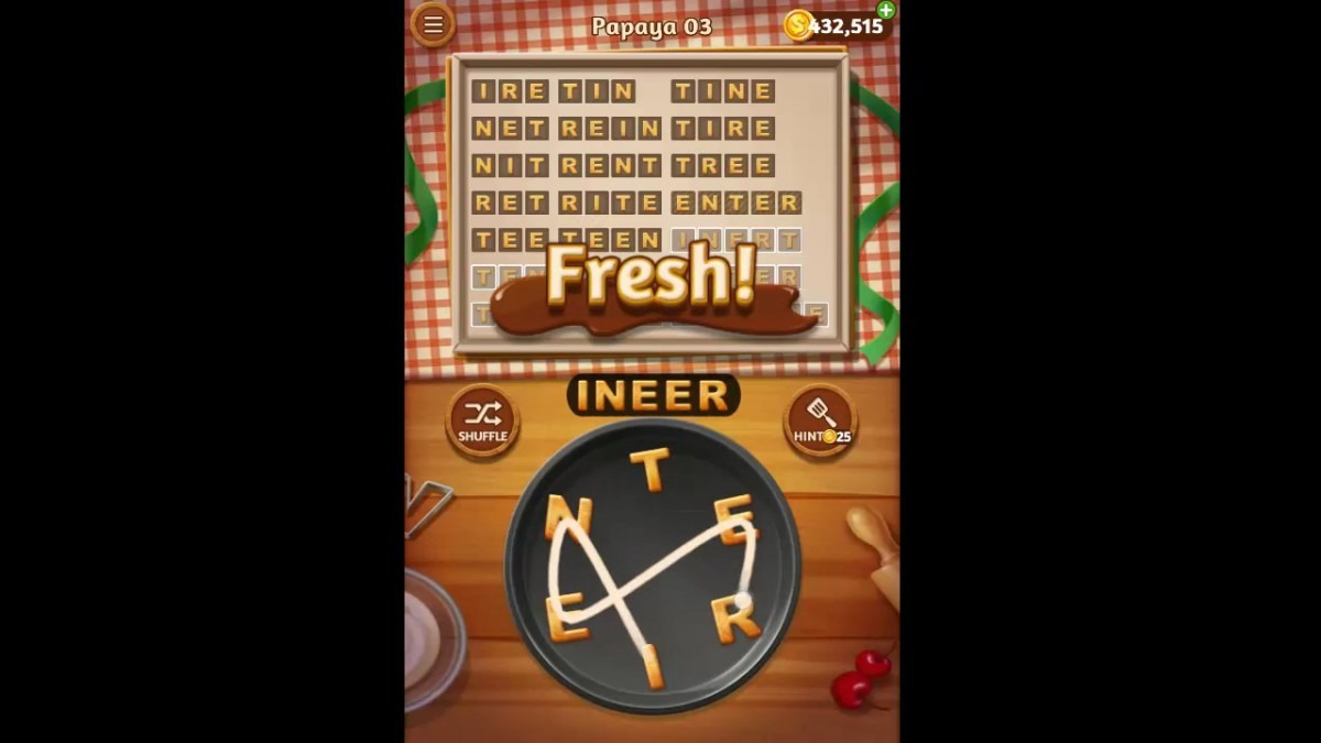 Word Cookies Papaya Pack Level 3 Answers