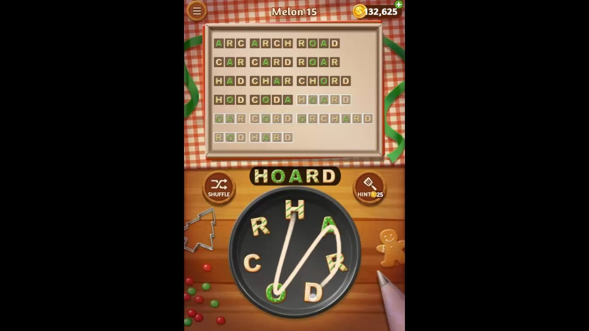 Word Cookies Melon Pack Level 15 Answers