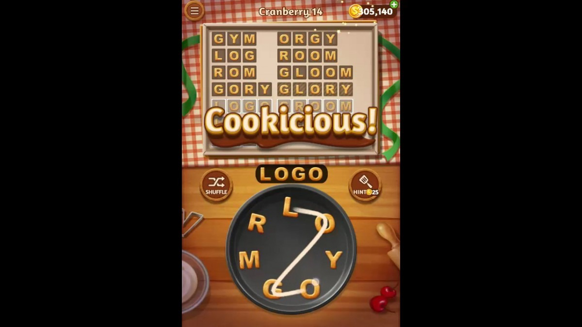 Word Cookies Cranberry Pack Level 14 Answers