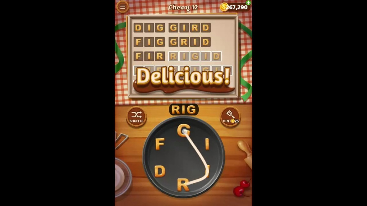 Word Cookies Cherry Pack Level 12 Answers