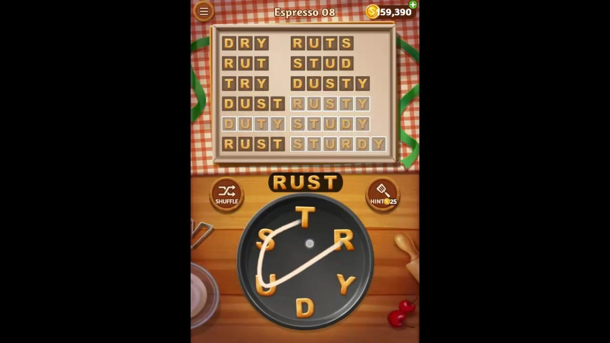 Word Cookies Espresso Pack Level 8 Answers