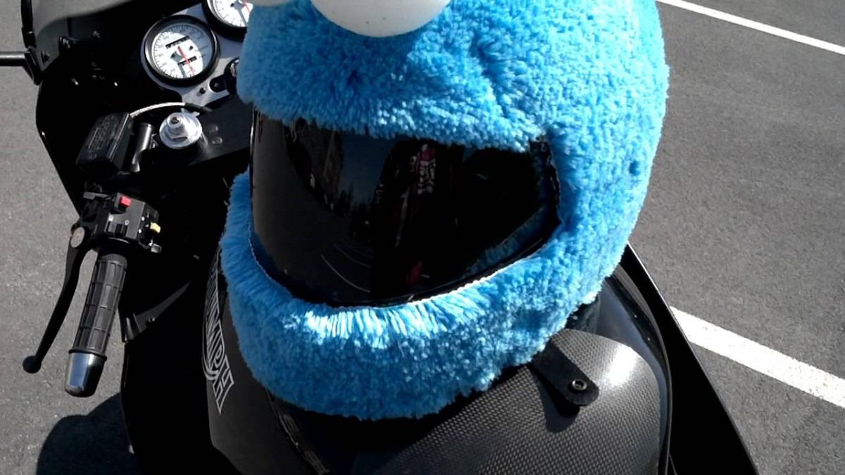 Cookie Monster Motorcycle Helmet