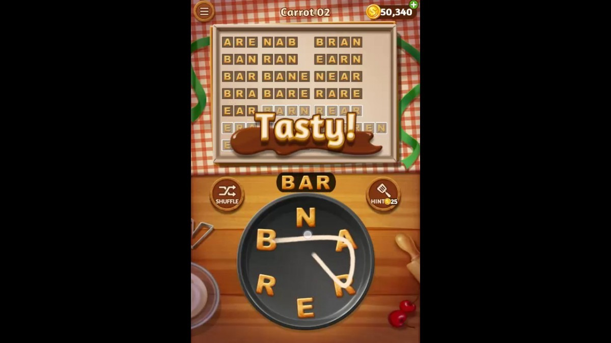 Word Cookies Carrot Pack Level 2 Answers