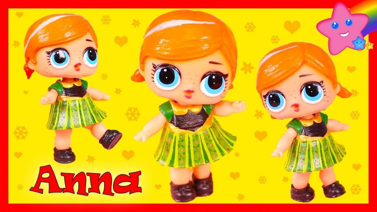 Diy Frozen Anna Custom Lol Surprise Doll