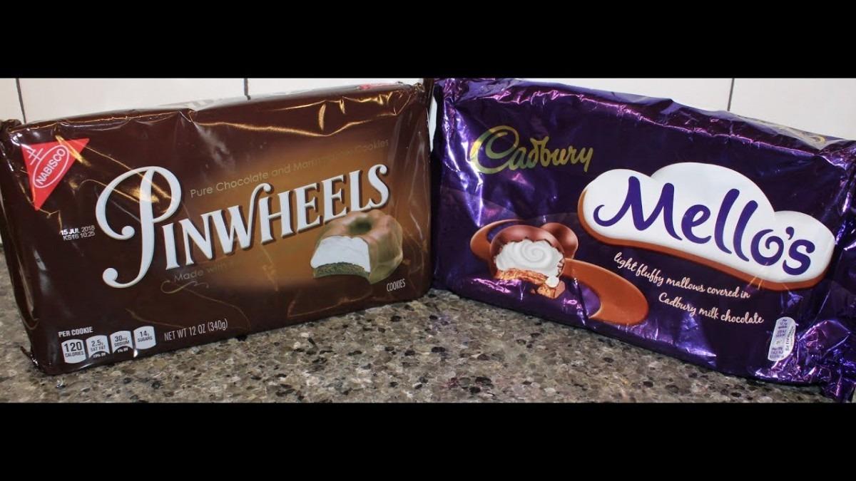 Nabisco Pinwheels Vs Cadbury Mello's
