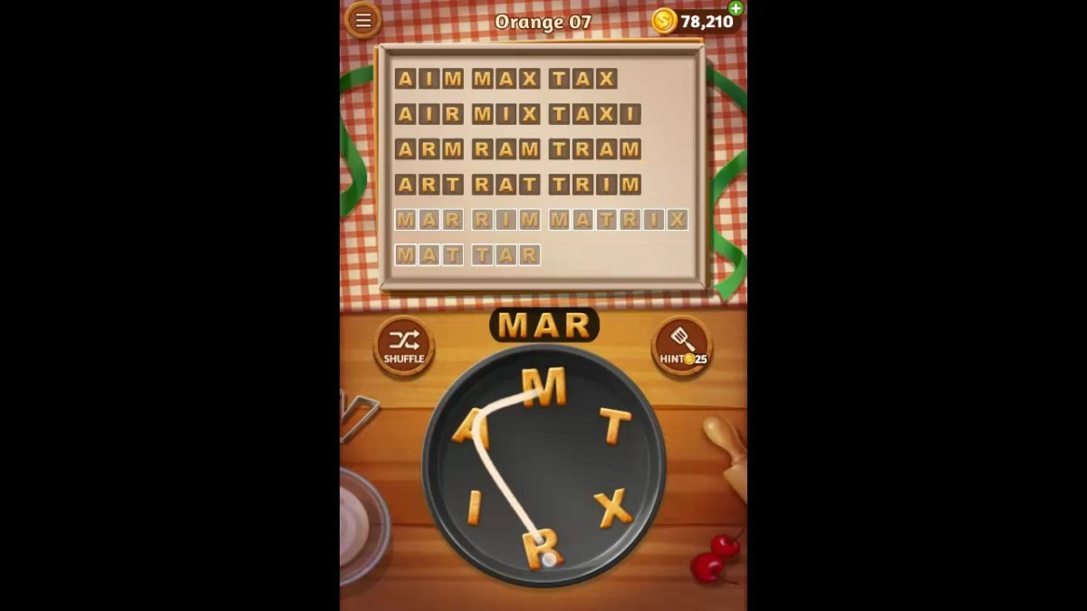 Word Cookies Orange Pack Level 7 Answers