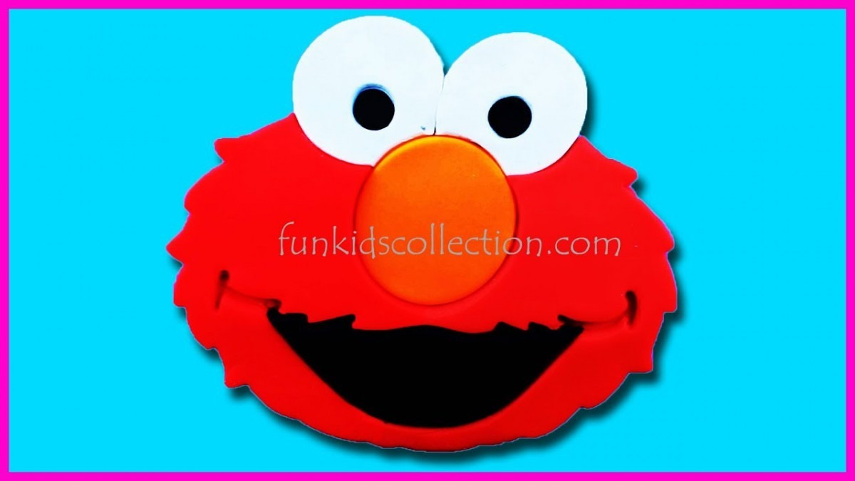 Diy Elmo Face Made Of Play Doh Cookie Cutter Clay Fidget Spinner