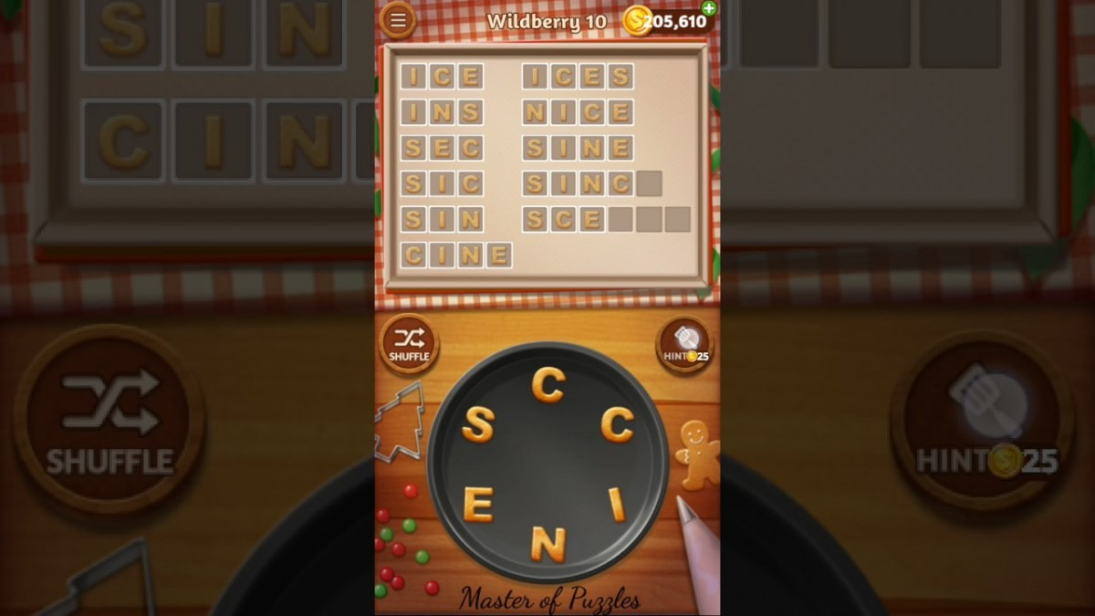 Word Cookies Wildberry Level 10 Celebrity Chef Solved