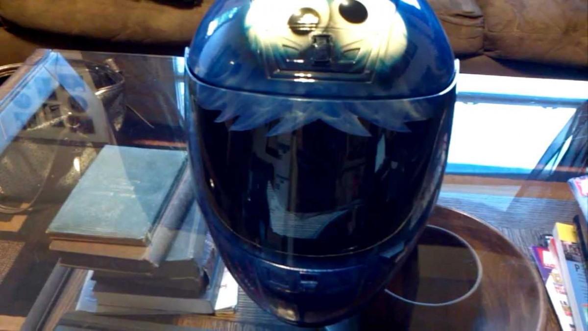 Custom Painted Airbrushed Cookie Monster Helmet