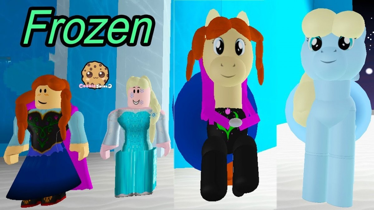 Frozen Castle With Elsa + Olaf ! Let's Play Roblox Cookie Swirl C