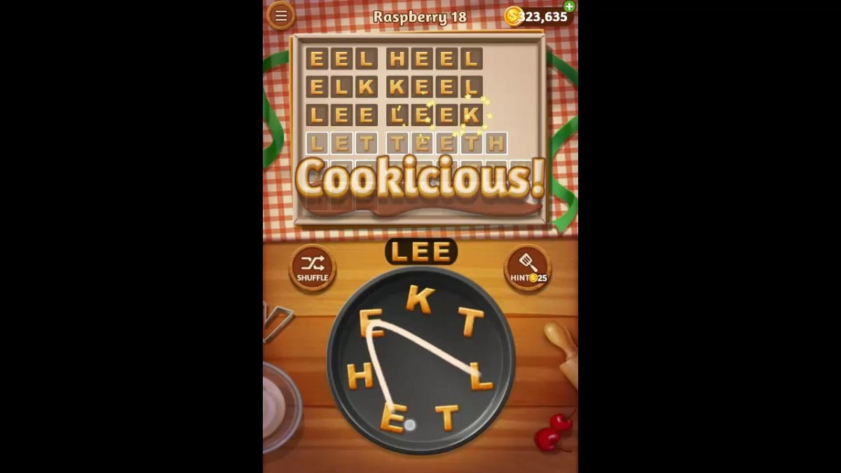 Word Cookies Raspberry Pack Level 18 Answers