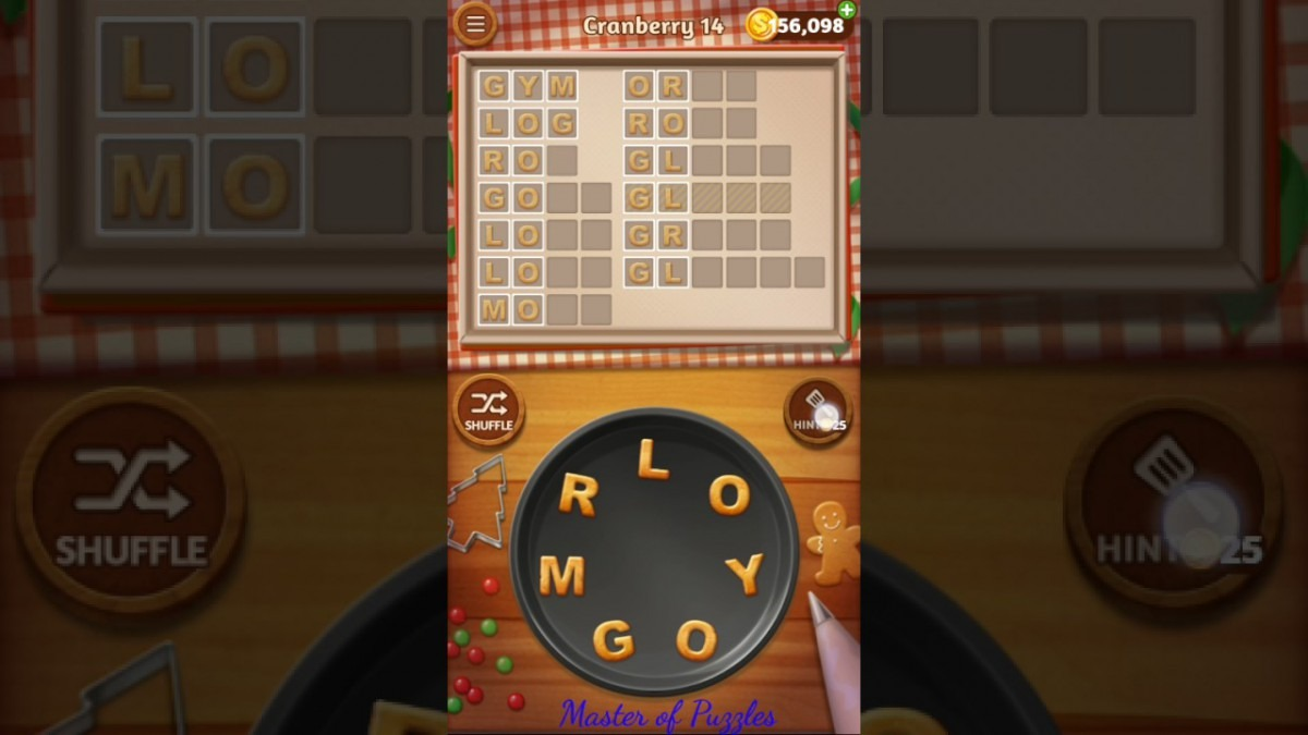 Word Cookies Cranberry Level 14 Celebrity Chef Solved