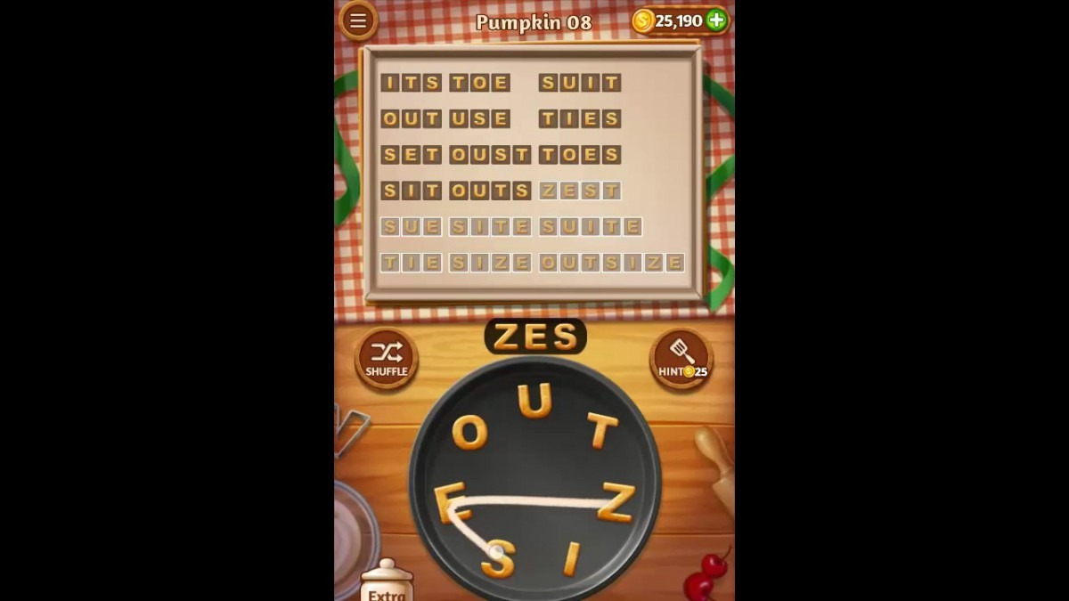 Word Cookies Pumpkin Pack Level 8 Answers