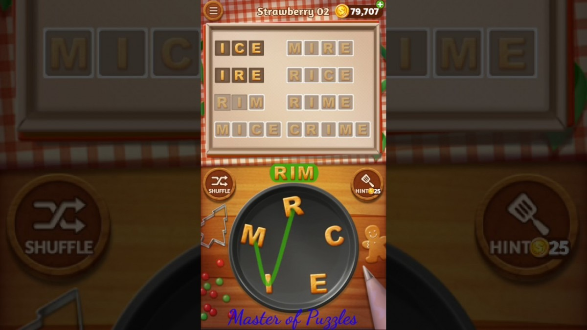 Word Cookies New Strawberry Level 2 Talented Chef Solved