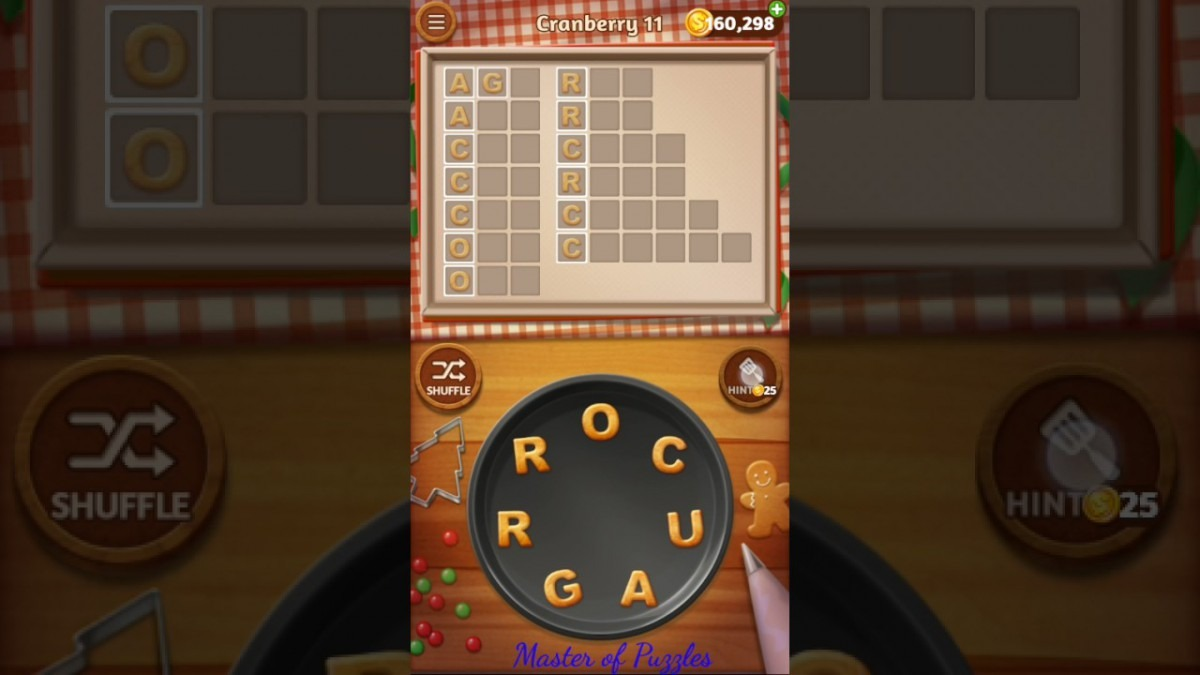 Word Cookies Cranberry Level 11 Celebrity Chef Solved