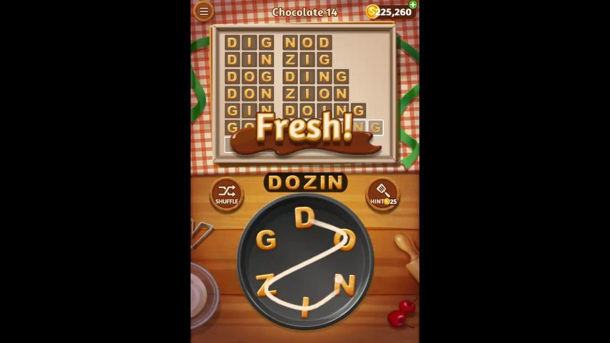 Word Cookies Chocolate Pack Level 14 Answers