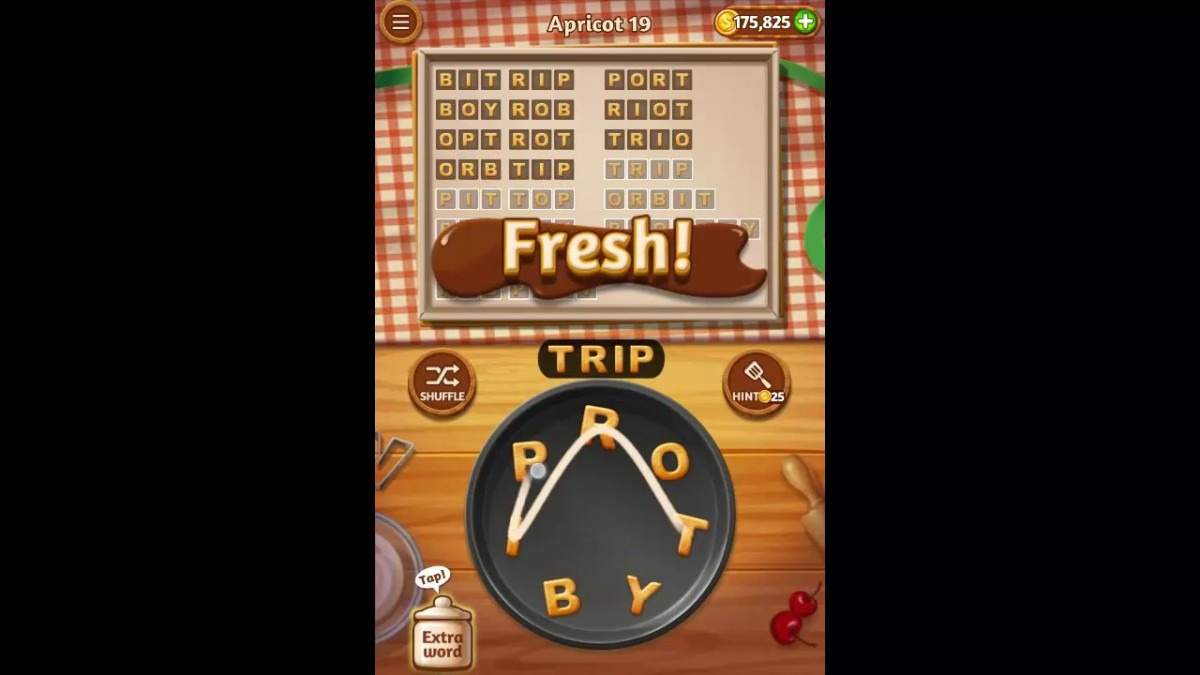 Word Cookies Apricot Pack Level 19 Answers