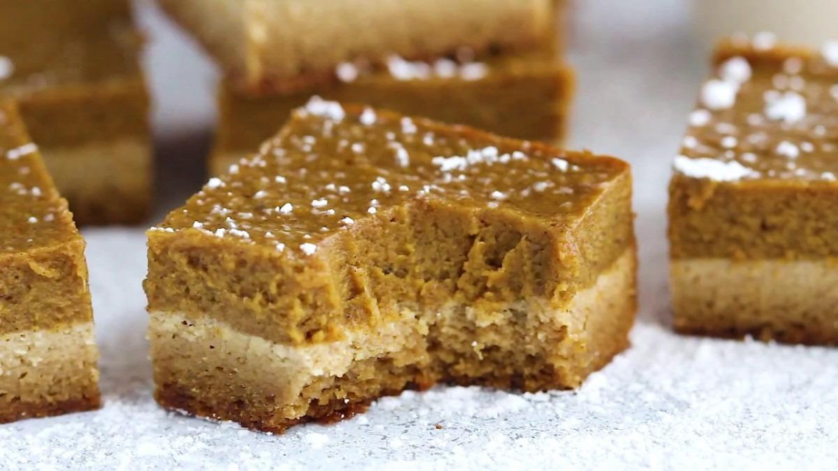 Paleo Pumpkin Bars With Almond Flour Sugar Cookies Crust
