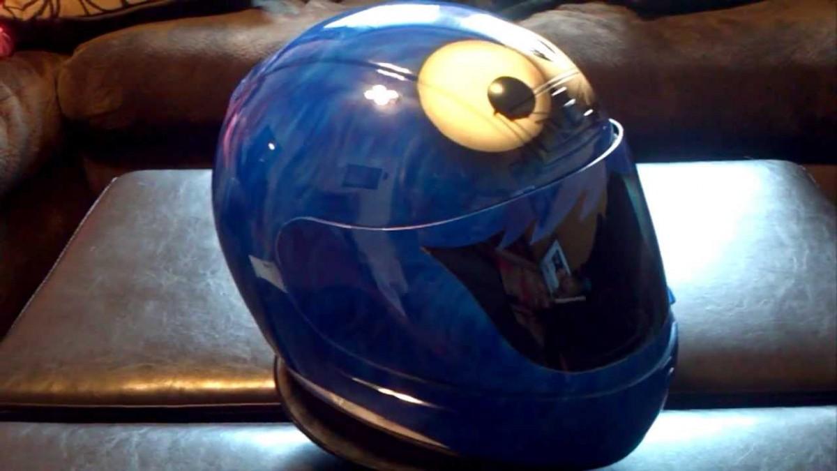 Cookie Monster Motorcycle Helmets   Ash Cycles