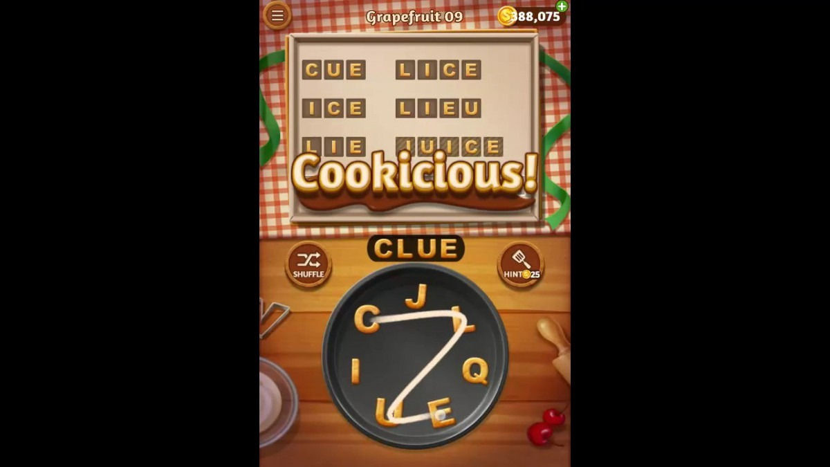 Word Cookies Grapefruit Pack Level 9 Answers