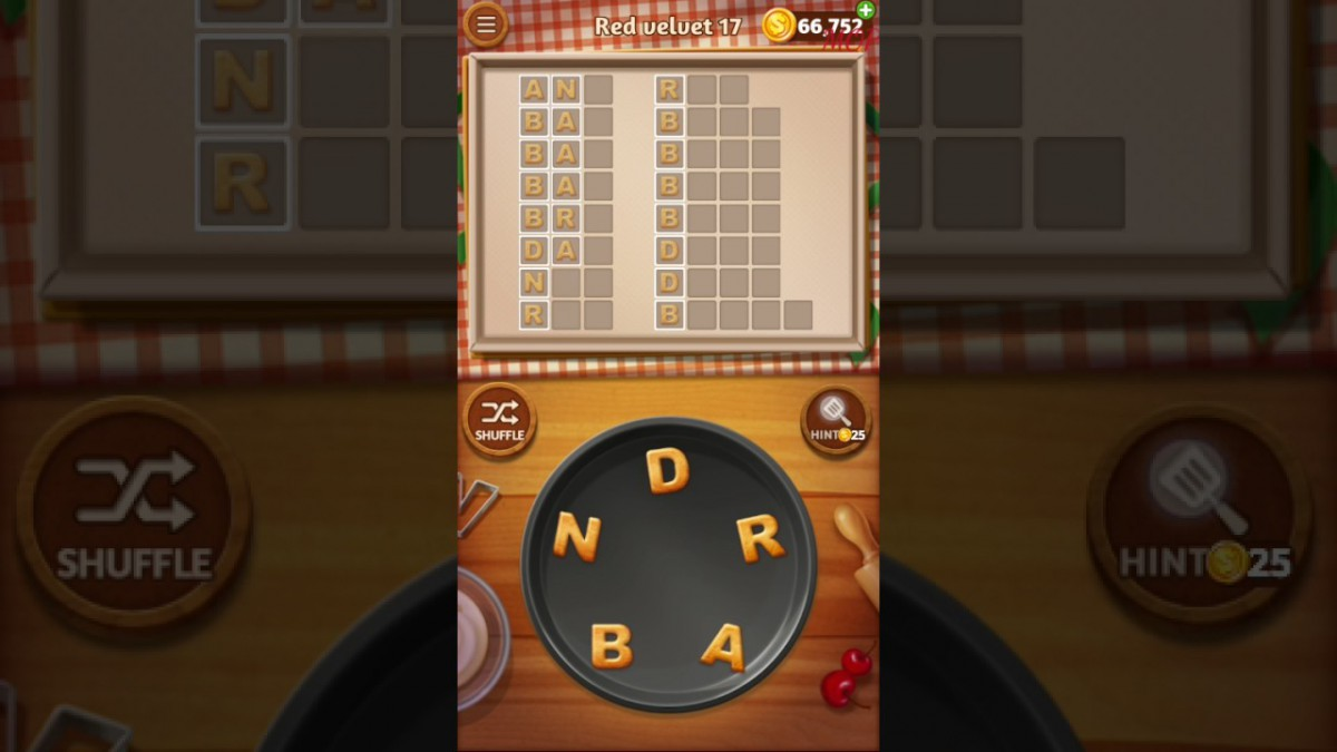 Word Cookies Red Velvet Level 17 Talented Chef Solved