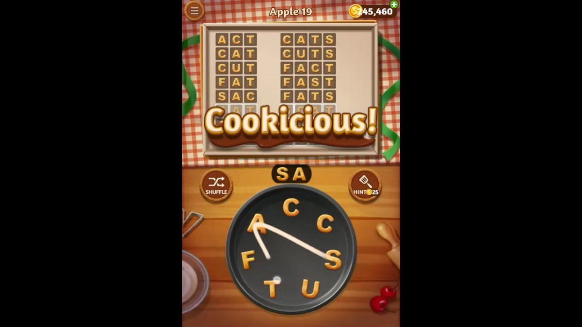 Word Cookies Apple Pack Level 19 Answers
