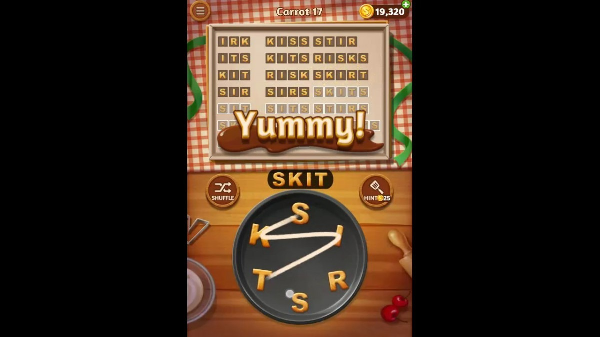 Word Cookies Carrot Pack Level 17 Answers