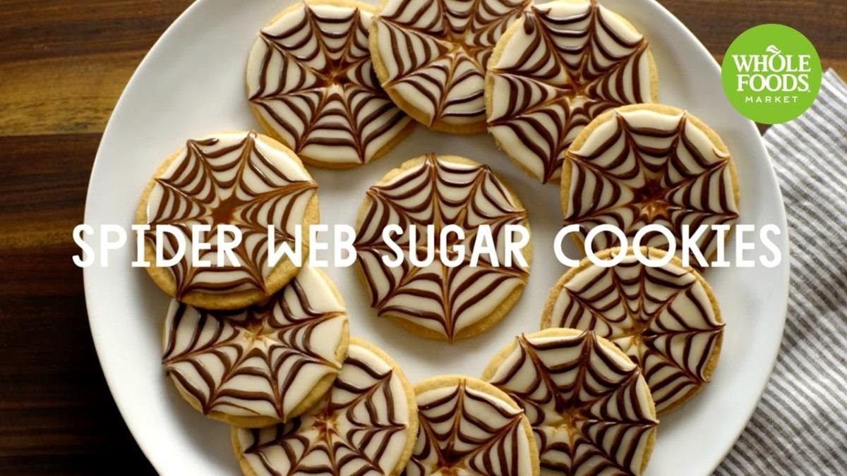 Spider Web Sugar Cookies