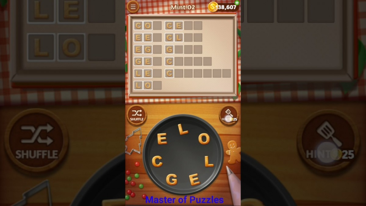 Word Cookies Mint Level 2 Sous Chef Solved