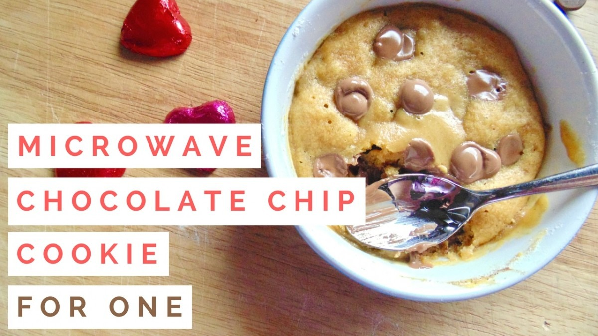 Microwave Chocolate Chip Cookie For One!