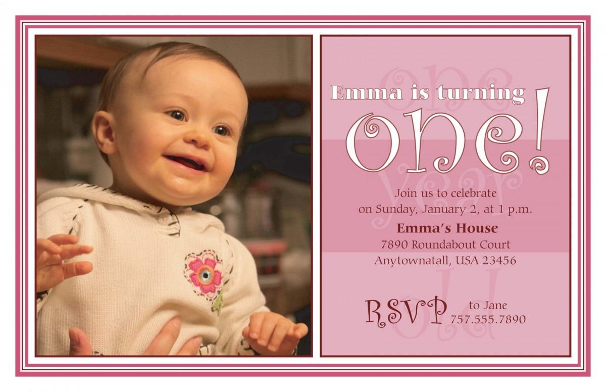 One Year Bi Fancy One Year Birthday Party Invitations