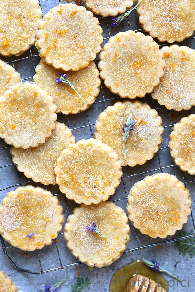 Orange Honey Lavender Shortbread Cookies