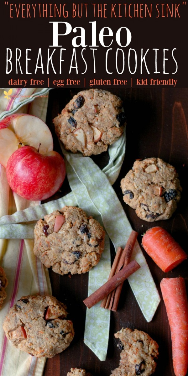 Everything But The Kitchen Sink  Paleo Breakfast Cookies!    Dairy
