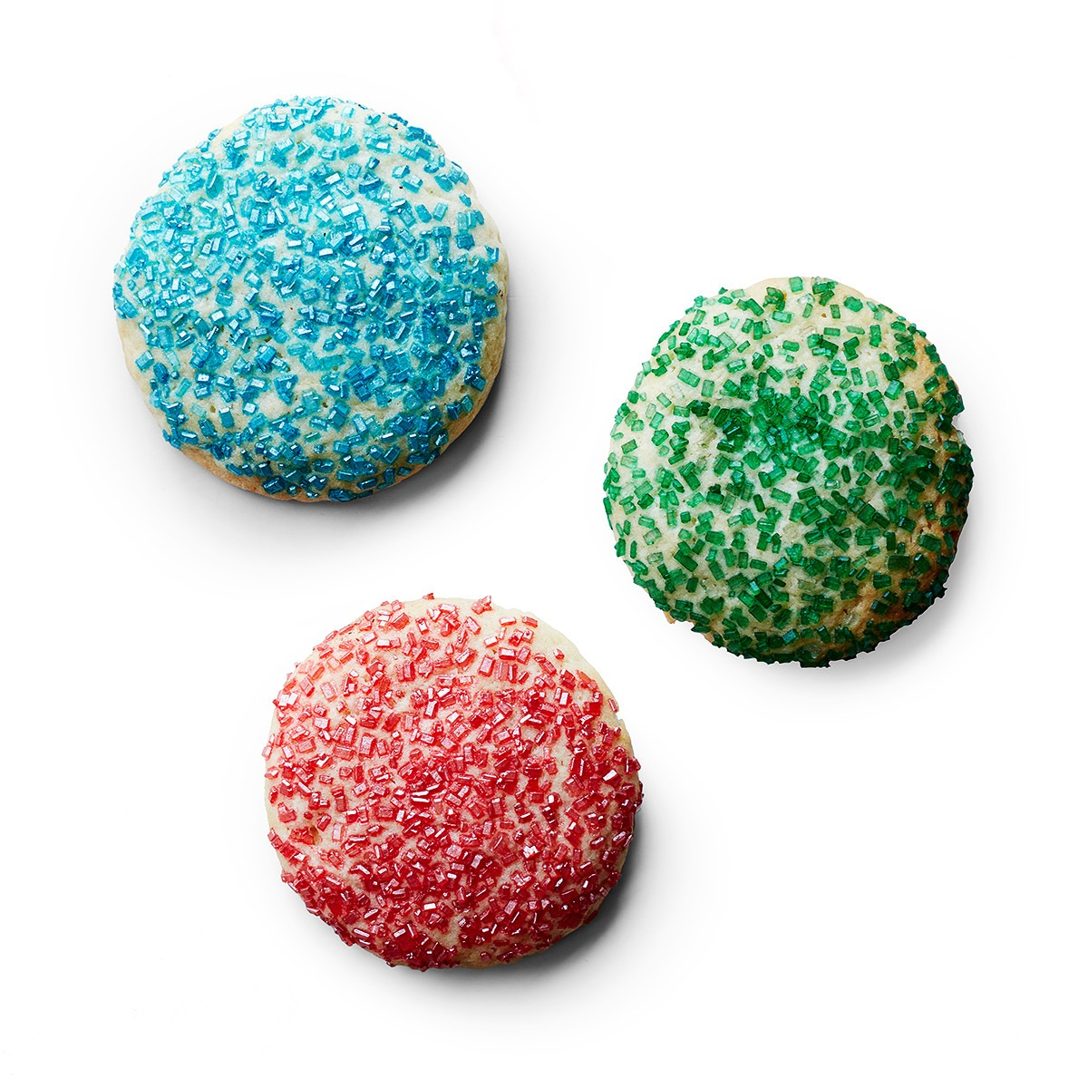 Soft Sugar Cookies With Colored Sugar