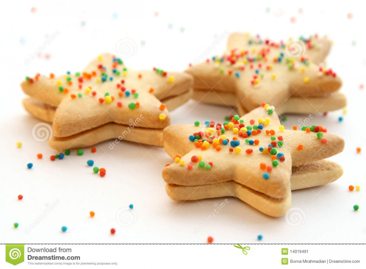 Star Shaped Cookies Stock Image  Image Of Star, Shaped