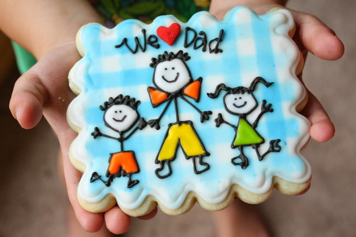 Munchkin Munchies  Stick Figure Dad Cookies For Father's Day