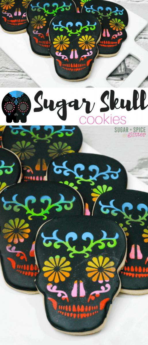 Sugar Skull Cookies ⋆ Sugar, Spice And Glitter