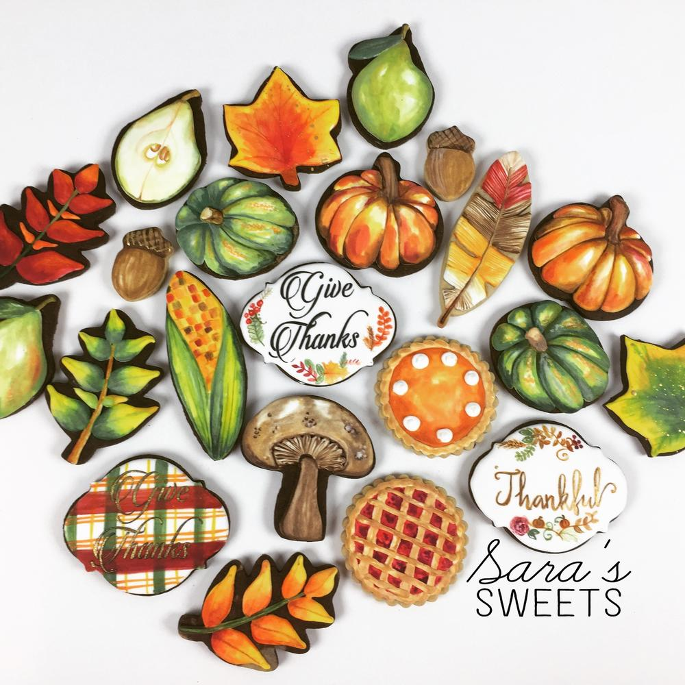 Thanksgiving Cookie Set
